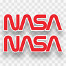 2x NASA Vinyl Decals Stickers Logo Classic Space Shuttle Crew Expedition Travel