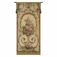 "Floral Belgian Tapestry Woven 30"" x 90"" Wall Hanging Decor Floral New Victorian"