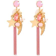 Hot Betsey Johnson Fashion Woman Rare Alloy Rhinestone Star Drop Earring Jewelry