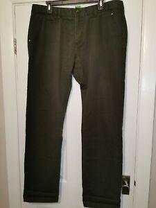 "Hugo Boss Green Label Chinos. 36"" Waist 33"" Leg. Khaki Olive Green. Regular Fit"