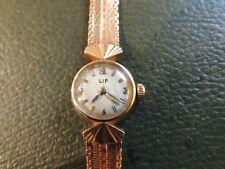 """Reloj de pulsera antiguo mujer """"LIP"""" oro rosa 18 quilates"""