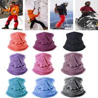 Outdoor Fleece Neck Gaiter Warmer Face Mask Ski Winter Headband Cap Pirate Rag