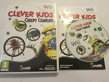 NINTENDO Wii GAME CLEVER KIDS CREEPY CRAWLIES +BOX & INSTRUCTIONS COMPLETE PAL