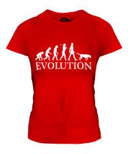 Beauceron Evolution Of Man Ladies T-Shirt Tee Top Dog Beauce Gift Walker Walking
