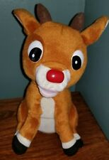 Gemmy Rudolph The Red Nosed Reindeer Talking Singing Animated Nose Glows!
