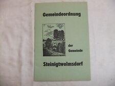 Gemeindeordnung der Gemeine Steinigtwolmsdorf 1982