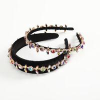 Elegant Ladies Baroque Crystal Headband Hairband Wide Hair Band Hoop Accessories