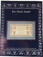 Family Sampler Marriage Wedding Cross Stitch Pattern Susan Coyle 1985