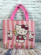 Hello Kitty Light Pink Striped Large Diaper Bag Handbag Tote Bag Shopper Purse