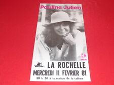 COLL.J. LE BOURHIS AFFICHES / PAULINE JULIEN 1981 MC La Rochelle Rare! Quebec