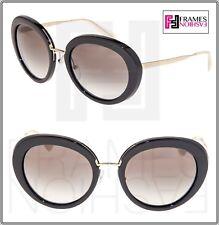 PRADA CINEMA Round PR16QS Black Opal Gold Gradient Sunglasses 16Q Women