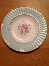 ROYAL CROWN DERBY 'Burford Shape Cabinet Plate with Posie Central Motif' c1949