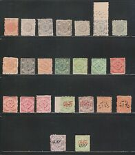 INDIA HYDERABAD 1870-1930, RARE SELECTION OF 23 DIFFERENT MNH STAMPS.