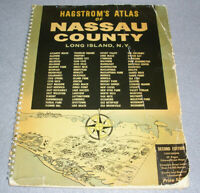 Antique Road Maps Atlas Nassau County NY Hagstrom 1960 COMPLETE 2nd Ed. w/Ads