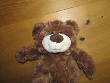 Althans Club Teddybär kuschelig weiches Teddyfell Braun ca. 30 cm - wie neu