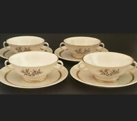 Franciscan Fremont Cream Soup Bowls and Saucers Set of Four (4) California China