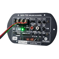 Bluetooth Subwoofer Amplifier Audio Board Microphone Bluetooth Power Amplifier