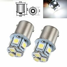2pcs White BA15S R5W 1156 5050 8SMD LED Auto Car Brake Lights Bulbs 12V DC