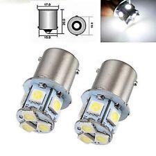 2X bianco BA15S R5W 1156 5050 8SMD LED auto luci di stop per lampadine 12V DC vf