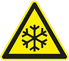 Set of 6 -  50x50mm ] DANGER LOW TEMPERATURE | health and safety |signs/stickers