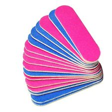 10 x Double Mini Sided Professional Nail Files Nail Buffer Slim Crescent Grit