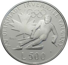 500 LIRE 1988-San Marino-Olimpiadi in Calgary-partenza alfiere in PP