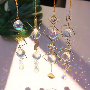 Moon Sun Catcher Crystal Light Witchy Suncatcher Prism Rainbow Window Hanging