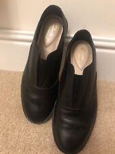 Zapatos de Cuero Clarks Negro De Mujer Comodidad cotidiana Zapato size UK 4.5