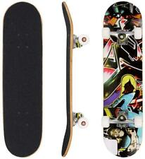 "Hikole Skateboard - 31"" x 8"" Complete Pro Skateboard - Double Kick 7 Layer Canad"
