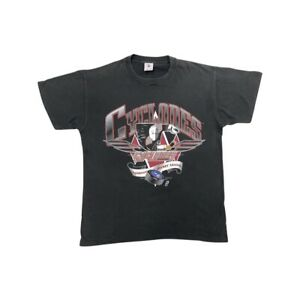 Vintage Delta NHL Cincinnati Cyclones Mens Black Graphic Short Sleeve T Shirt L