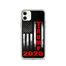 New Trump 2020 iPhone Cases Black Flexible Clear Sides Solid Back Many Styles