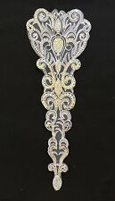 White 43cm Silver Sequin Embroidered Applique Tutu Dance Costume Stage Trim