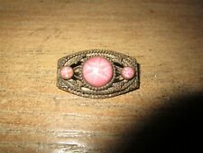 Antique Brooch Pink Star Cabachons