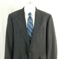 Hart Schaffner Marx Men's 46 R Blue 2 Button Wool Sport Coat Blazer Suit Jacket