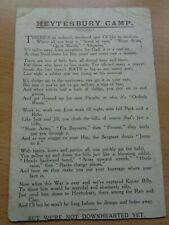 WW1 (1916) British Artillery Training Camp Card - SALISBURY PLAIN (HEYTESBURY)
