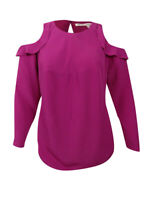 RACHEL Rachel Roy Women's Trendy Plus Size Ruffled Cold-Shoulder Top