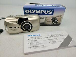 Olympus Stylus Epic Zoom 80 Quartz 35mm Camera Original Box & Manuals