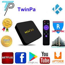4K MX10 DDR4 4GB/32GB ANDROID 7.1.2 WIFI TV BOX KODI 17.6 Quad Core Media Player