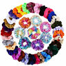 Set of 5-20 Velvet Hair Scrunchies Pack Elastic Scrunchy Bobbles Ponytail Holder