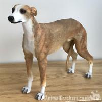 Fawn Tan Greyhound ornament sculpture statue lifelike Leonardo figurine, boxed