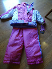 GIRLS Snow Suit Ski Pants 2 pc Winter Jacket PINK SIZE 3/3T Protection System