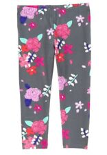 37e9cbd6f51999 Gymboree Mix N Match Floral Flower Grey Leggings Pants Girls Nwt Capri M 7 8