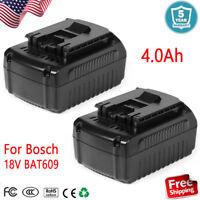 2x New for Bosch 18 Volt 18V 4.0Ah Li-ion Battery BAT609 BAT610G BAT618 24618-01