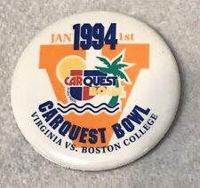1994 VIRGINIA CAVALIERS,CAR QUEST BOWL,BOSTON COLLEGE,PIN,FOOTBALL UVA RARE
