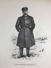 Vice Amiral Ronarc'h 1920 Marine Charles Fouqueray Lithographie ancienne