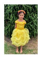 Girls Belle Dress Costume, Princess Belle Costume