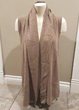Lusso 100% Cashmere Vest in Caramel Heather Size Medium 8/10 Canadian
