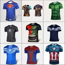 Men T-Shirts Marvel Super heros Ant Man The Avengers Batman Jersey Tops Cycling