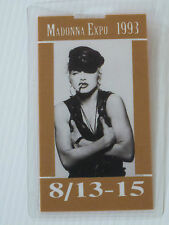 MADONNA EXPO 1993 Laminated Backstage Pass 8/13-15 (Guest Exhibitor)