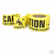 Yellow Safety Party Zone Caution Barrier Tape Warning Construction, Party Tape